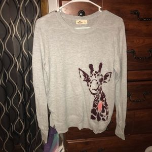 Grey Hollister Giraffe Sweater